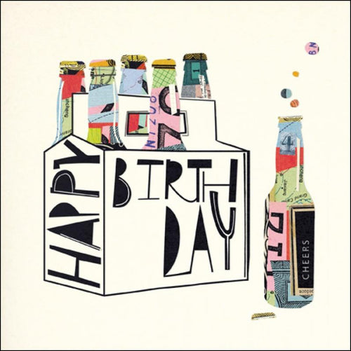 Bottle craft birthday card - Daisy Park