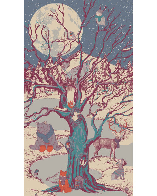 Winter chums print scarf - Daisy Park