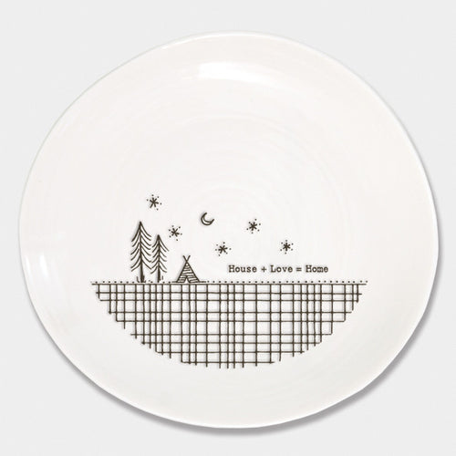 East of India House + Love = Home wobble plate