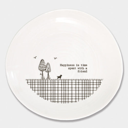 East of India Happiness is time spent with a friend wobble plate