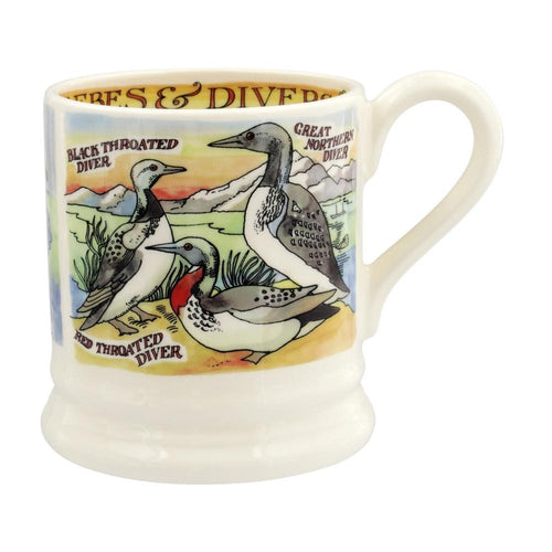 Emma Bridgewater Divers and Grebes 1/2pt mug - Daisy Park