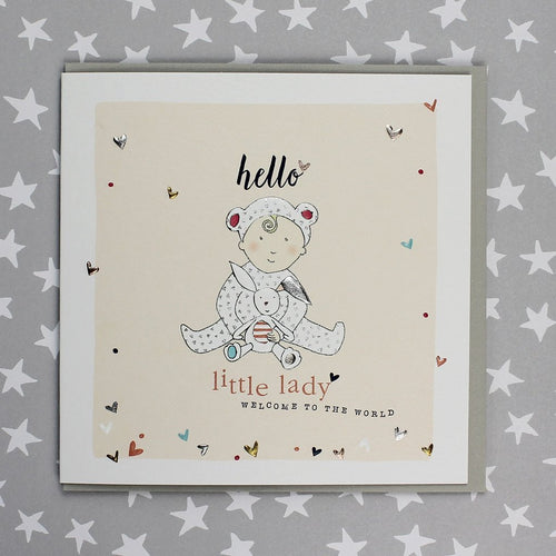 Hello Little Lady card - Daisy Park