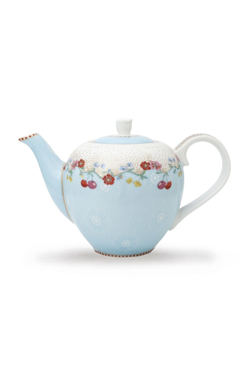 Pip Studio Floral teapot small cherry blue - Daisy Park