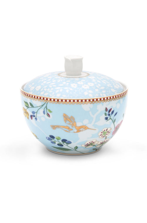 Pip Studio Floral sugar bowl Hummingbirds blue - Daisy Park