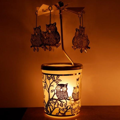 Glass carousel wind light Owl