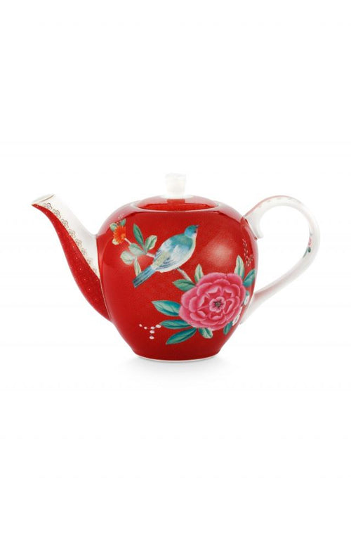 Pip Studio Blushing Birds small red teapot - Daisy Park
