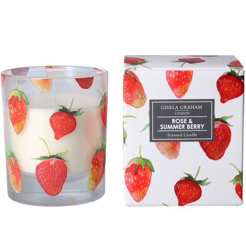 Boxed scented candle - Strawberries - Daisy Park