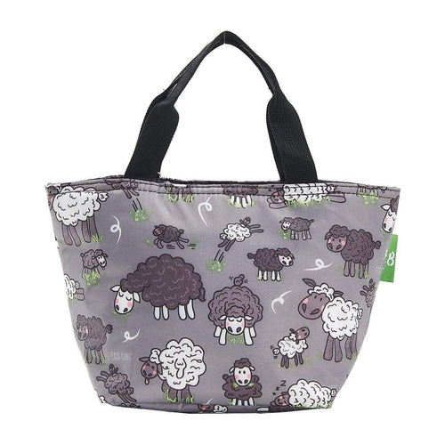 Eco Chic Grey Sheep Foldable Lunch Bag - Daisy Park