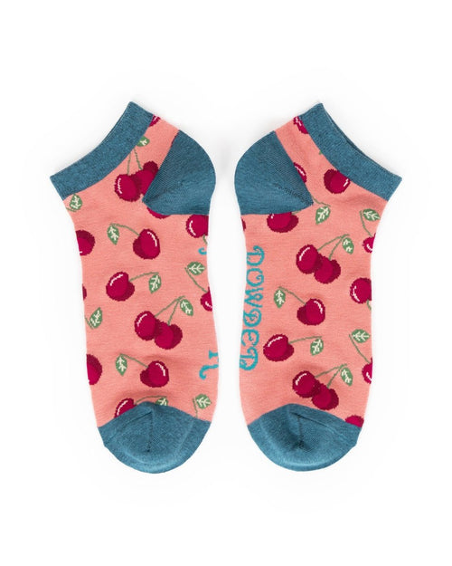 Candy Cherries trainer socks - Daisy Park