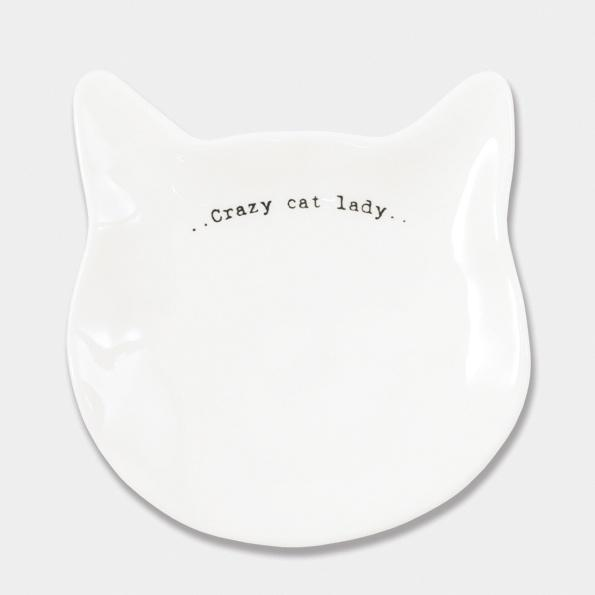Crazy cat lady wobbly cat dish - Daisy Park