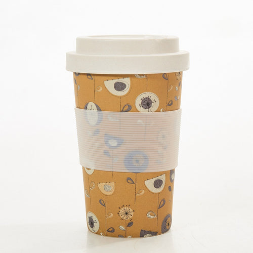 Eco Chic Taupe 1950's bamboo cup - Daisy Park