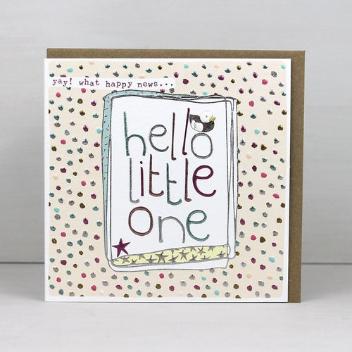Hello little one pink card - Daisy Park