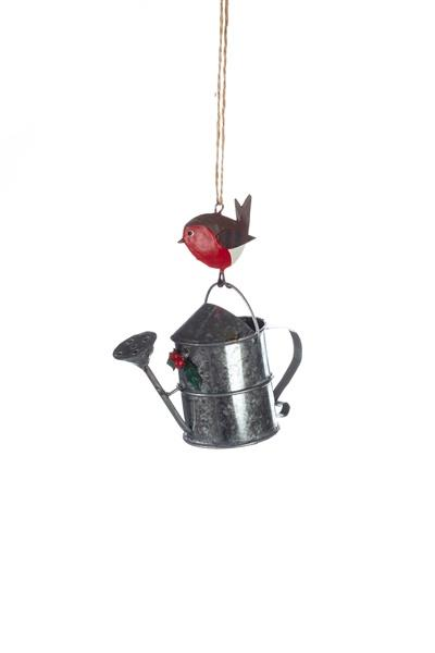 Watering Can with Robin Decoration - Daisy Park