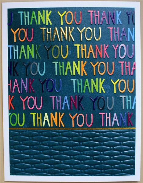 Thank you multi coloured lettering card - Daisy Park