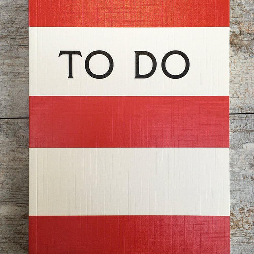 To do red stripe notebook - Daisy Park