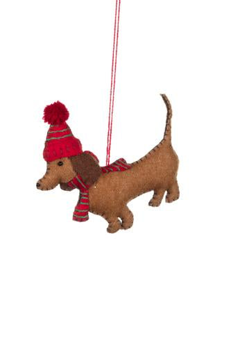 Daschund in bobble hat - Daisy Park