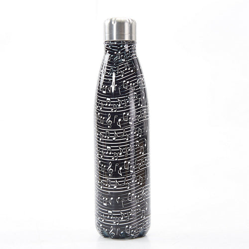 Eco Chic Black Music Thermal Bottle - Daisy Park