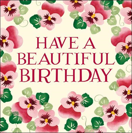 Emma Bridgewater Have a beautiful birthday card - Daisy Park