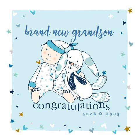 Brand New Grandson Card - Daisy Park