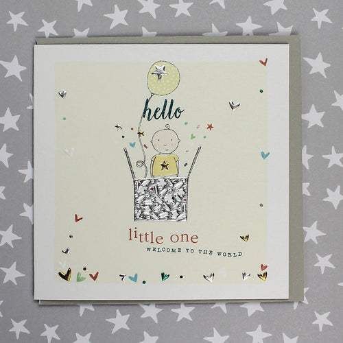 Hello Little one, new baby card