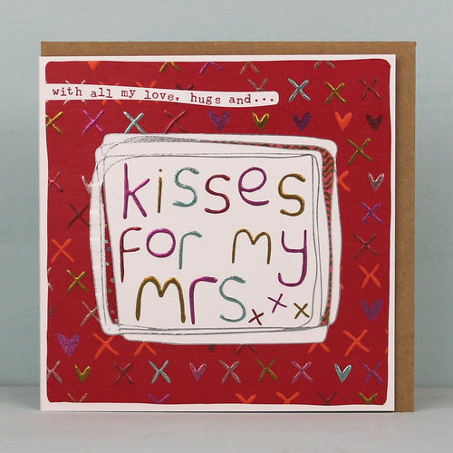 Kisses for my Mrs card - Daisy Park
