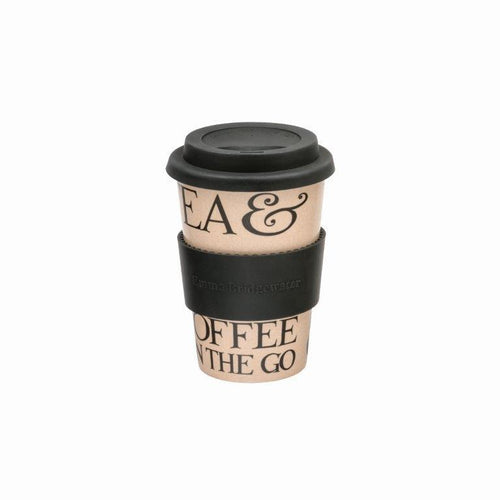 Emma Bridgewater Black toast rice husk travel cup - Daisy Park