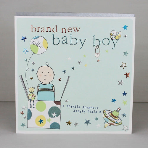 Brand new baby boy card - Daisy Park