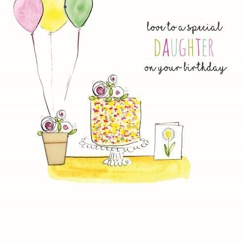 Love to a special Daughter Birthday card - Daisy Park