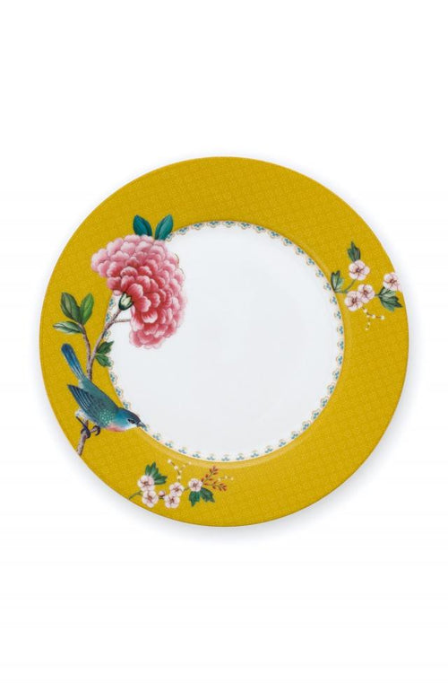 Pip Studio Blushing Birds Yellow 21cm plate - Daisy Park