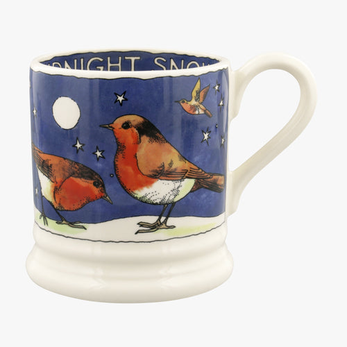 Emma Bridgewater Robins in the snow 1/2pt mug - Daisy Park