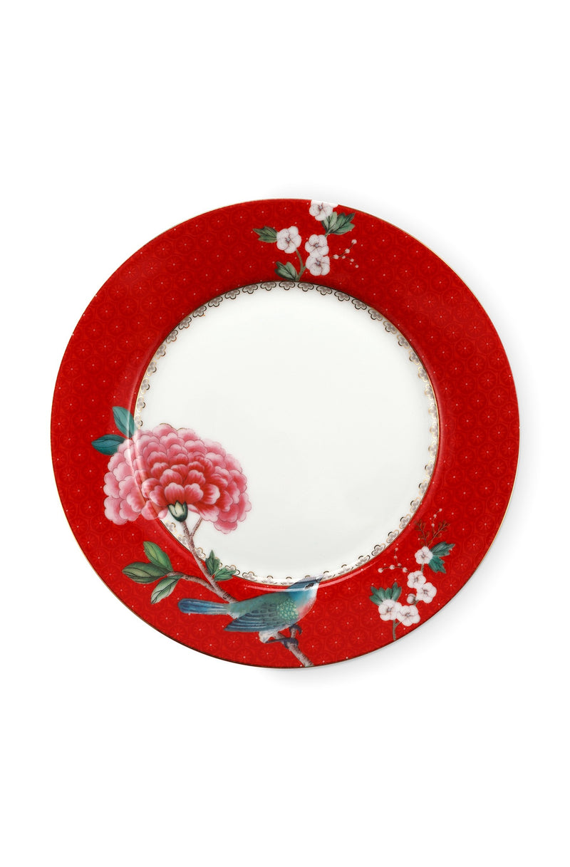 Pip Studio Blushing Birds Red 21cm plate - Daisy Park