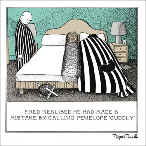 Fred - Barbed wire card
