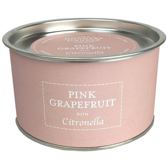 Pink Grapefruit Citronella multi wick candle with petals