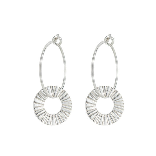 Silver Surfside Hoop Earrings - Daisy Park