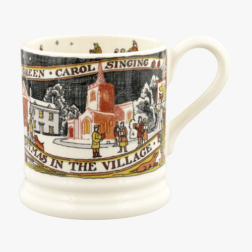 Emma Bridgewater Christmas In The Village 1/2 Pint Mug. - Daisy Park