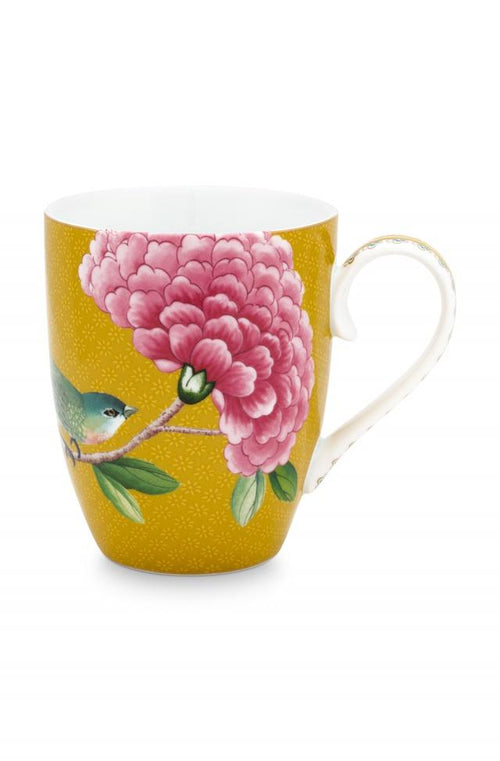 Pip Studio Blushing Birds Yellow large mug - Daisy Park
