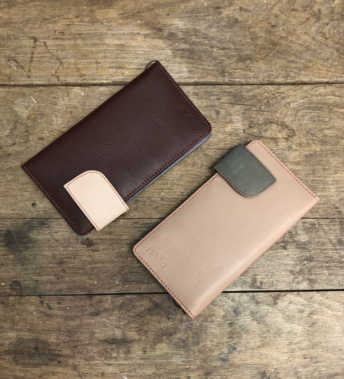 Leather classic wallet - Daisy Park