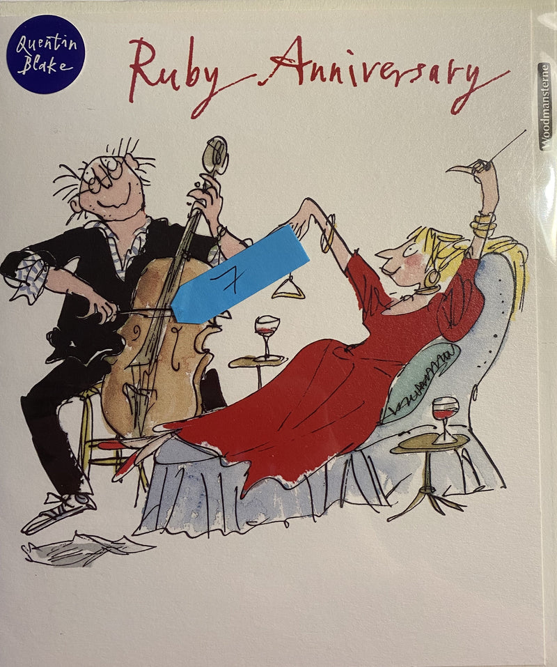 Making music Ruby Anniversary card - Daisy Park