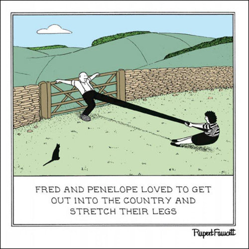 Fred - Leg stretching card - Daisy Park