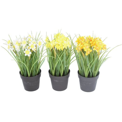 Fabric daffodils in pot - Daisy Park