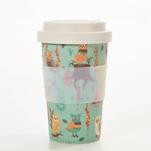 Eco Chic Blue owl bamboo cup - Daisy Park