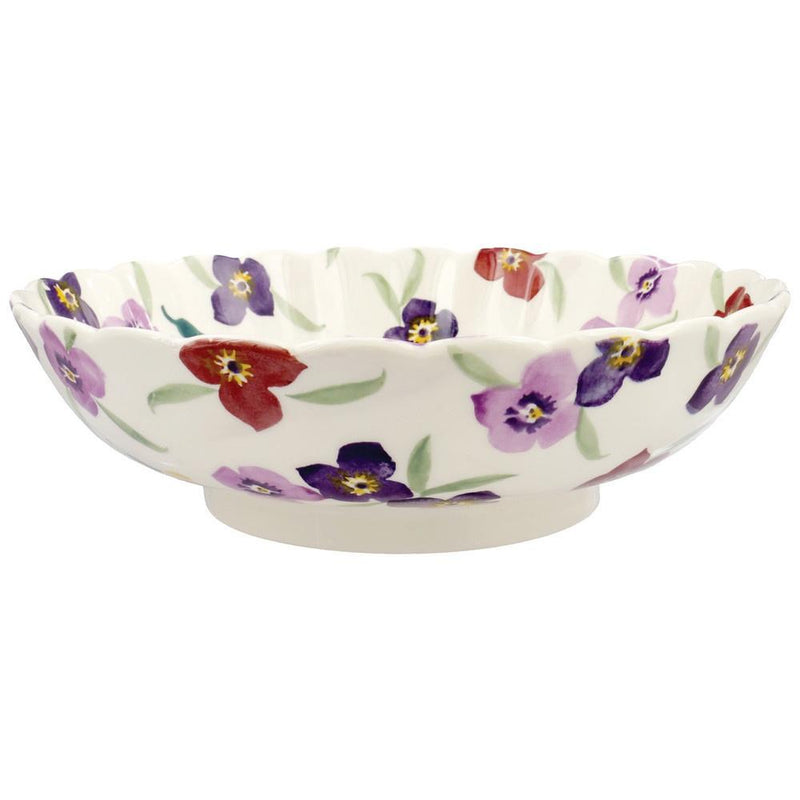 Emma Bridgewater Wallflower large fluted dish - Daisy Park