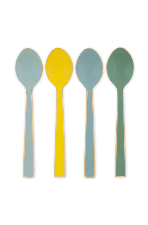 Pip Studio Blushing Birds set of 4 enamelled spoons