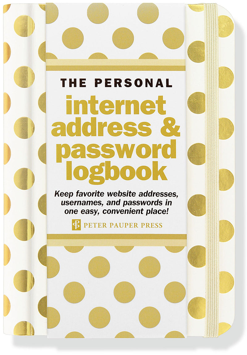 Gold dots internet address and password logbook - Daisy Park