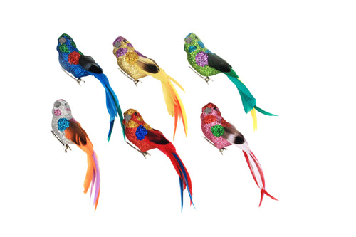 Multi Colour Clip On Birds - Daisy Park