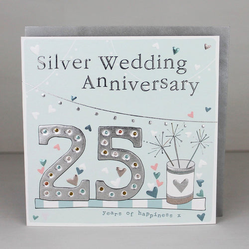 25th Wedding anniversary card - Daisy Park