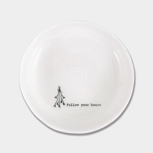 East Of India Follow your heart trinket dish - Daisy Park