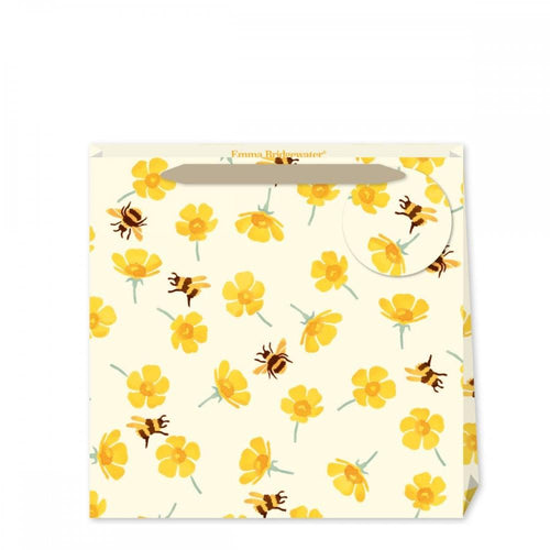 Emma Bridgewater Buttercup and bees medium gift bag - Daisy Park