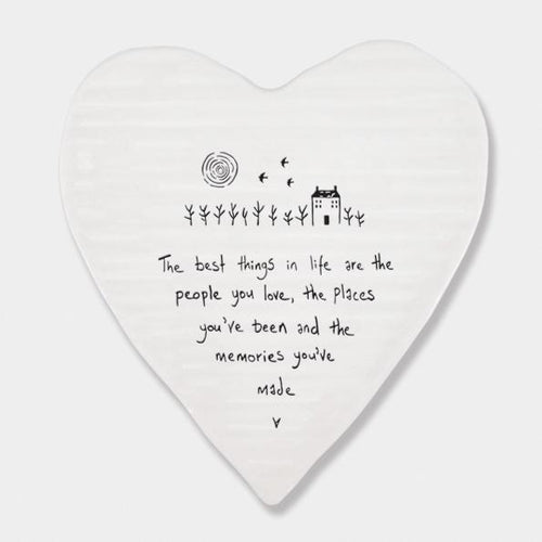 Best things are people you love ceramic heart coaster - Daisy Park