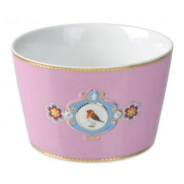 Pip Studio Love Birds medallion pink 15cm bowl